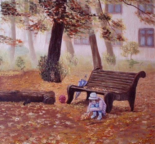 Картина Татьяны Сонец Минск На прогулке