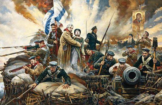 Картина художника Василия Нестеренко Отстоим Севастополь