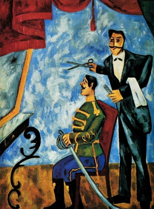 Картина Офицерский парикмахер художника Михаила Ларионова