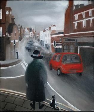 Картина современной художницы Наталии Клёминой Переходы. Англия. Фрагмент картины