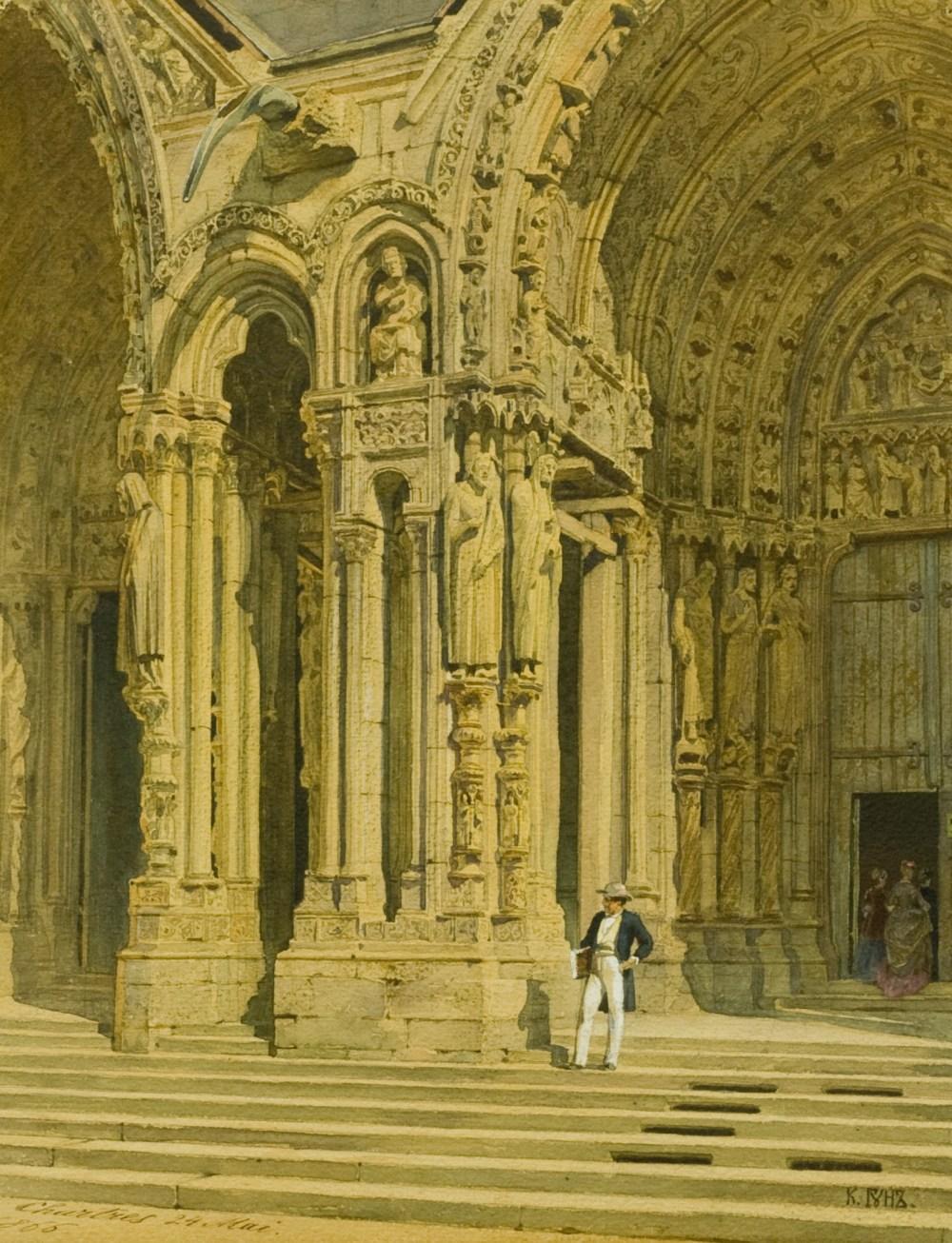 Гун К.Ф. Собор в Шартре, 1866
