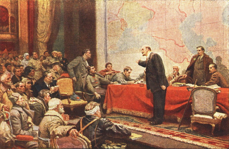 картинахудожника Шматько Л.А. Выступление Ленина о плане ГОЭЛРО