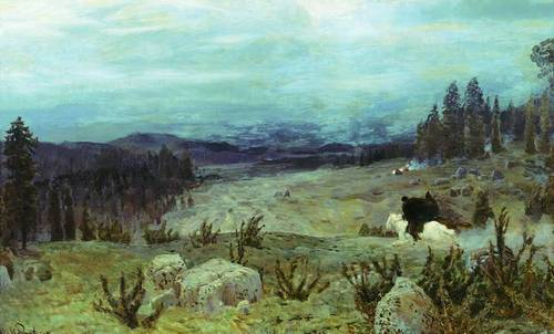 Картина художника Аполлинария Васнецова Сибирь