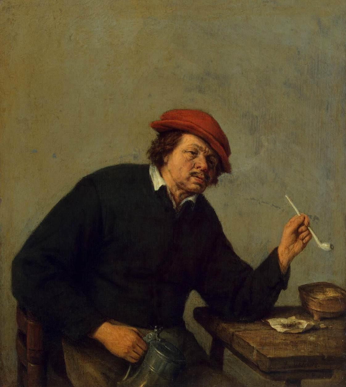 Картина голландского художника Адриана ван Остаде Курильщик