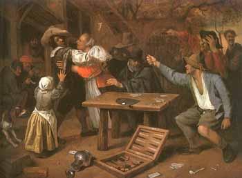 ссора за картами Ян Стен
