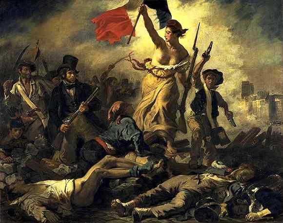 Картина художника Эжена Делакруа Свобода, ведущая народ, иначе - Свобода на баррикадах