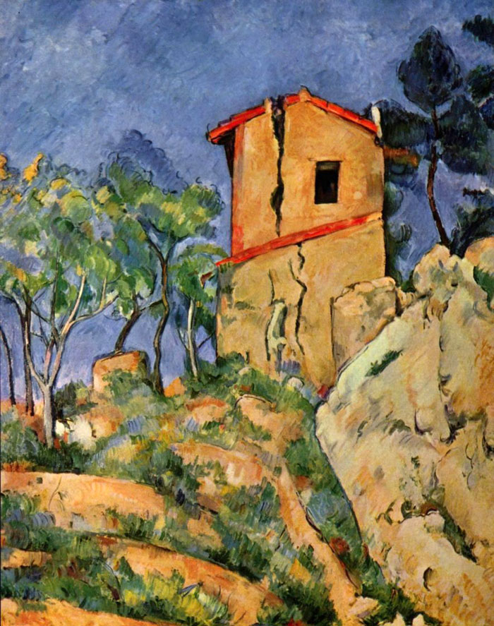 Сезанн Дом с трещинами в стенах