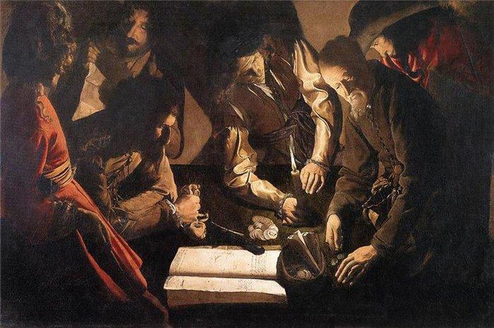 Картина У ростовщика художника французской школы Жоржа де Латур