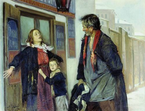 Картина художника Владимира Маковского Не пущу!