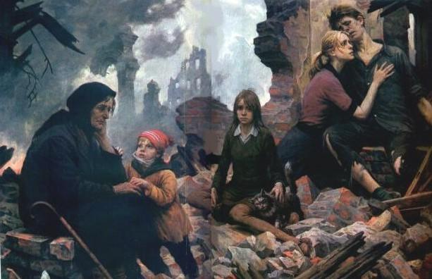 картина художника Бориса Валентиновича Щербакова Зло мира. Век XX